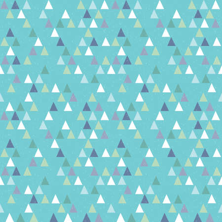 green day baby blue background: Seamless vector hipster geometric triangles pattern in navy and green on aqua blue background. Masculine pattern for boys babies gift wrapping paper textiles and scrapbooking. Grunge overlay.