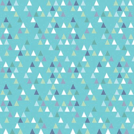 fondo para bebe: Vector patr�n de tri�ngulos inconformista geom�trico incons�til en azul marino y verde sobre fondo azul aqua. Patr�n masculino para ni�os beb�s de regalo de papel de envolver textiles y scrapbooking. Superposici�n Grunge.