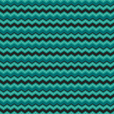 Cute seamless vector background pattern with chevron stripes in green and. Light grunge overlay on a separate layer. For Christmas, greeting cards, wrapping paper, wallpapers.