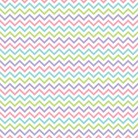 Cute seamless retro geometric background with chevron stripes in pretty pastel colors. For baby shower, Mothers Day, Valentines Day, gift wrapping paper, textiles, scrapbook, surface textures.
