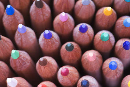 Full frame view of coloured pencils Stock Photo - 2776465