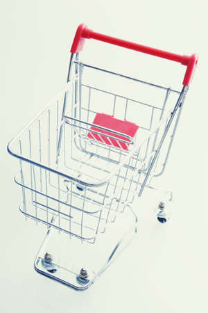 empty shopping cart: Overhead View Of Empty Shopping Cart