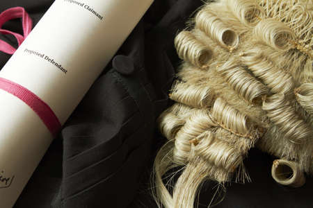 wig: Still Life Of Barristers Robe,Wig And Brief
