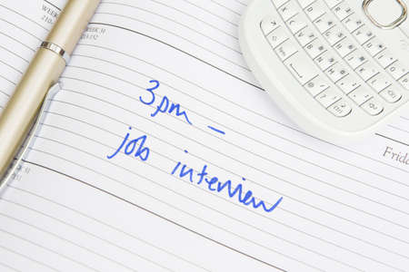 entrevista de trabajo: Diary Appointment For Job Interview
