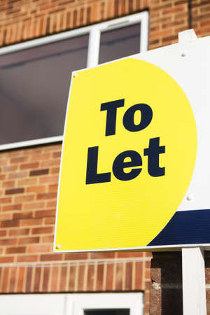 credit crunch: To Let Sign Displayed Outside House Stock Photo