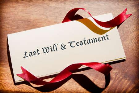 inheritance: Still Life Of Will Document On Desk
