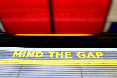 miniaturization: Mind The Gap Warning At Edge Of Subway Platform