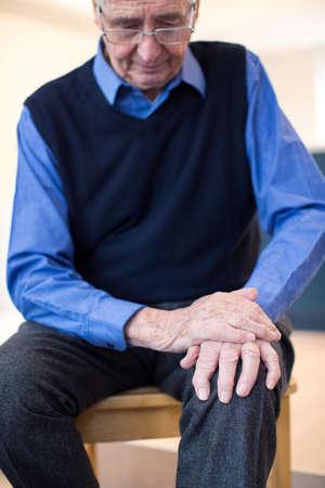 Senior Man Suffering With Parkinsons Diesease 스톡 콘텐츠