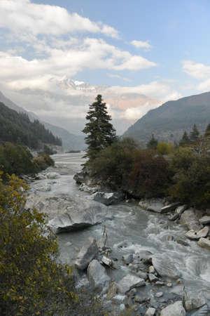kali: Kali Gandaki River in the Himalayas. Nepal Stock Photo