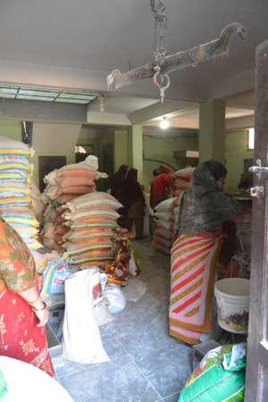 flour mill: Women working at flour mill in Bhaktapur. nepal, november 2014