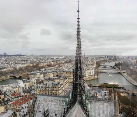 Notre Damme Cathedral in Paris, Christmas 2018 before the fire