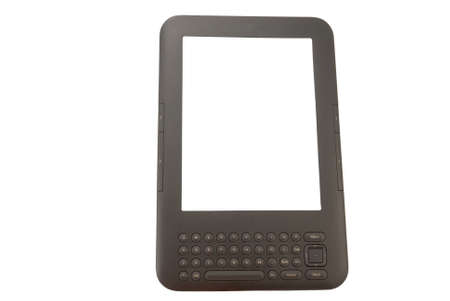 e-book with a keyboard on a white background