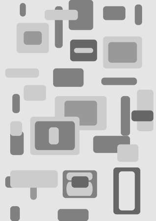 Illustration for design Modern silver in the form of rectangles