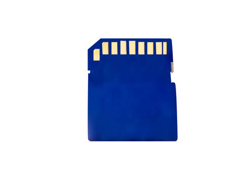 Memory card is blue on a white background Vector