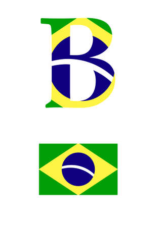 brasilia: The letter B in the form of the flag of Brasilia