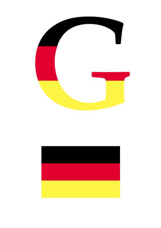 The letter G in the form of the flag of Germany Stock Vector - 10588818