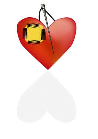The concept of a broken heart Stock Vector - 11578552
