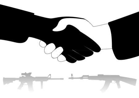 verdrag: illustreren het concept van leugens tegen een vredesverdrag