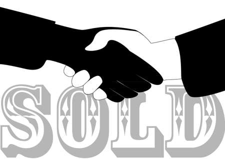 mutually: illustration of the concept of a successful sold