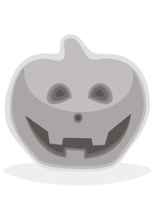 Halloween pumpkin with evil scary smile Stock Vector - 11578563