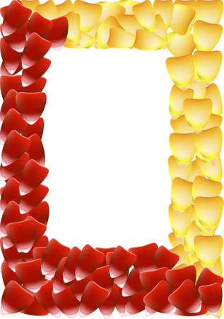 red rose border: Vector frame in the form of rose petals