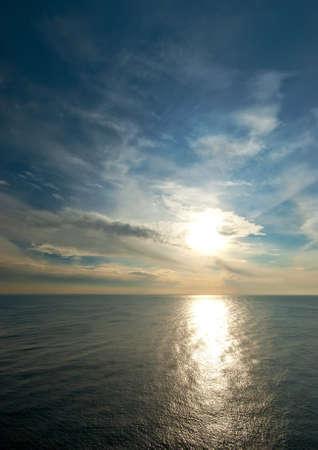 Sunset on the Black Sea Stock Photo