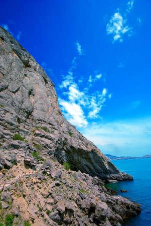 Golitsyn trail along the cliffs  Tourist route  Crimea Stock Photo - 13831757
