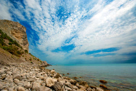 Wild beach  Crimea,  photo