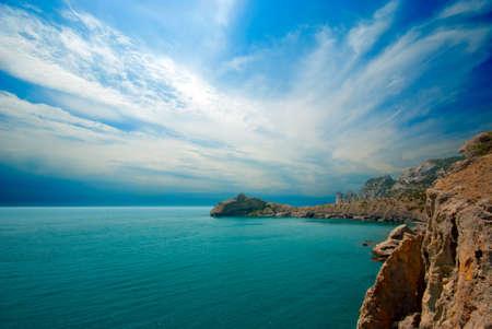 Green Bay   Crimea,  New Light  Stock Photo - 13831754