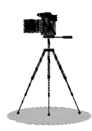 An icon in the form of cameras painted hatching Vector