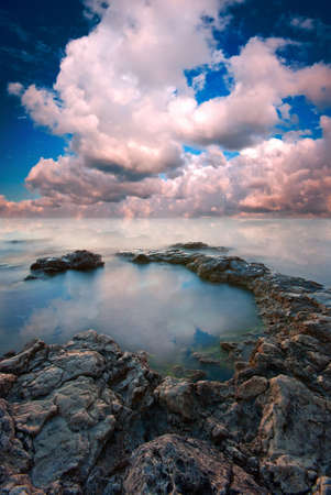 Seascape, which creates a romantic mood photo