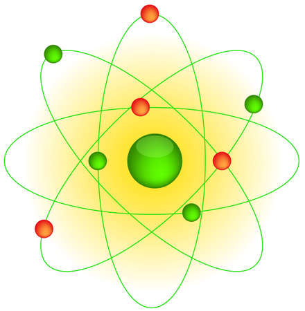 photons: Icon of the atom and the electrons around Illustration