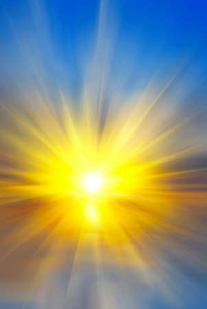 the sun over sea and rays