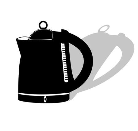 electric kettle: icon electric kettle with shadow