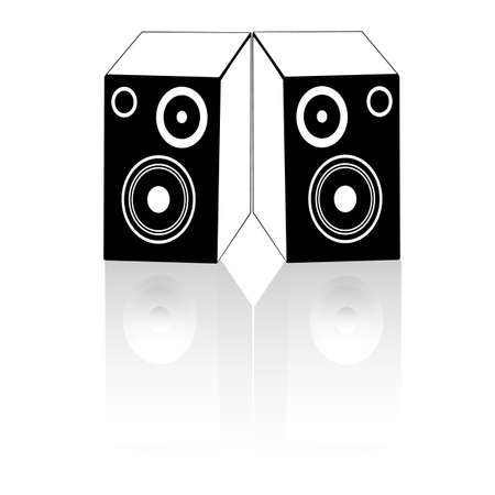 The icon in the form of speakers with reflection Stock Vector - 17231987