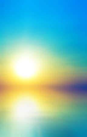 Soft sea sunset. Abstract bokeh background Stock Photo