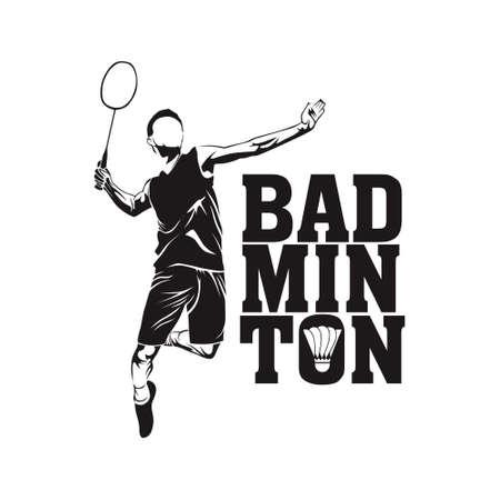free vector badminton player Illustration