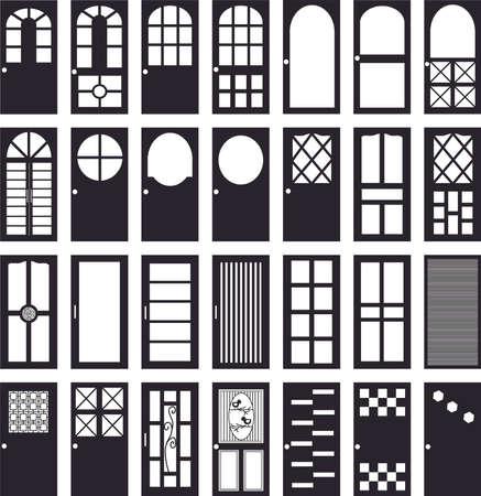 doorframe: plan de la puerta del ba�o puerta de la oficina puerta Cocina