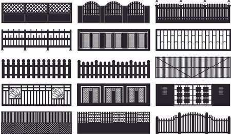 iron gate:  Construction fences plan