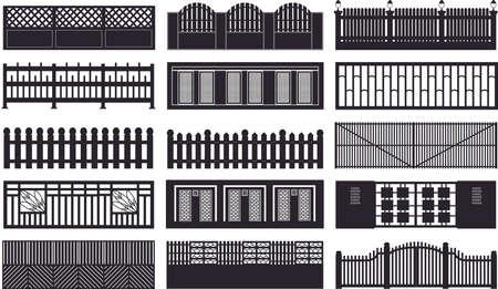 plan de clôtures de construction