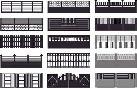 Construction fences plan  Vector