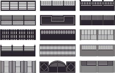 fil de fer: plan de clôtures de construction Illustration