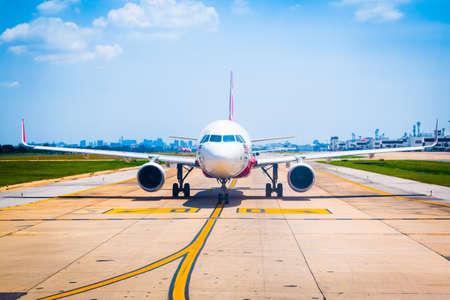Bangkok, Thailand - April 13, 2017: Thai Airasia parked at Don Mueang International Airport in Bangkok, Thailand.