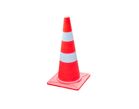 Traffic cone isolated on white background.