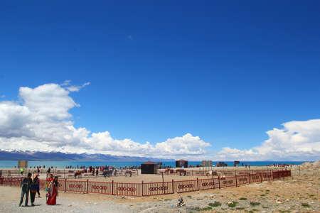 Namtso or Lake Nam is a mountain lake on the border between Damxung County of Lhasa, Tibet.