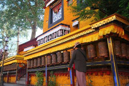 Tibet turn ceremony Stock Photo