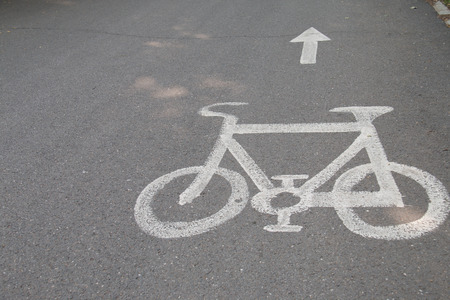 bicycle lane: Bicycle Lane Stock Photo