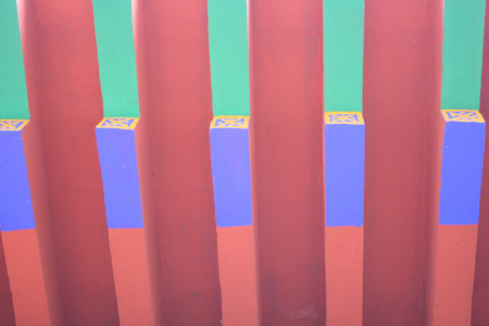 eaves: Painted wooden eaves Stock Photo
