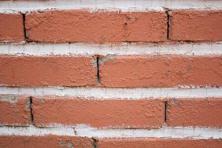no boundaries: Red brick wall Stock Photo