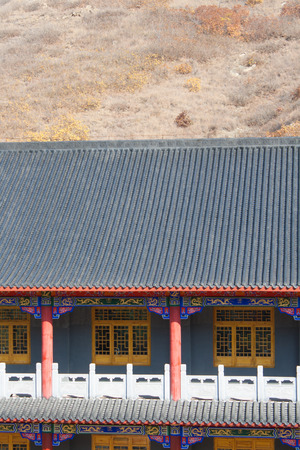 Temple roof tiles photo